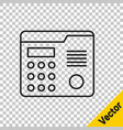 black line house intercom system icon isolated on vector image vector image