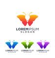 butterfly idea logo design vector image vector image
