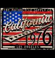 california amarican flag retro style graphic vector image vector image