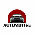 car classic front view logo vector image