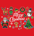 christmas cartoon object in set vector image vector image