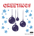 Christmas decorations and stars vector image