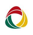 circle blade logo design vector image