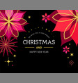 classic black xmas background with flowers vector image vector image