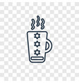 coffee cup concept linear icon isolated on vector image