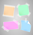 Colorful papers set vector image vector image