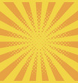 comic background with halftone effect and sunburst vector image vector image