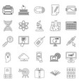 cyber study icons set outline style vector image