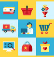 digital blue red shopping vector image vector image