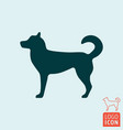 dog icon isolated chinese symbol new 2018 year vector image vector image