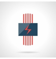 Electric heating system modern flat icon vector image vector image