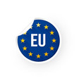 european union icon sticker vector image vector image