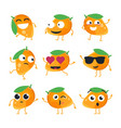 funny mango - isolated cartoon emoticons vector image