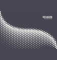geometric halftone hexagon shapes technology vector image vector image