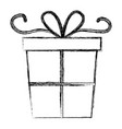 gift box present icon vector image vector image