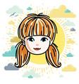 girls face human head character beautiful vector image vector image