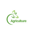 green agriculture logo design template vector image