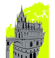 Grey castle vector image