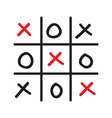 hand drawn tic tac toe competition vector image