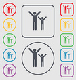 happy family icon sign symbol on the Round and vector image vector image