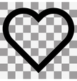 heart icon on a transparent vector image