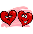 hearts in love cartoon vector image vector image