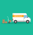 home removal and transportation concept flat vector image