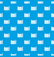 house plan pattern seamless blue vector image