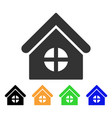 house with round window icon vector image