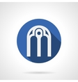 Intricate arches blue round icon vector image vector image