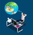 isometric office worker or businessman in the vector image vector image