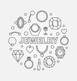 jewelry minimal round in vector image vector image