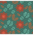 Leaves branches floral seamless pattern vector image