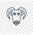 male sheep concept linear icon isolated on vector image