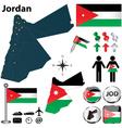 map jordan vector image