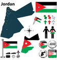 Map of Jordan vector image vector image