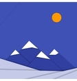 Material design landscape background with vector image