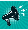 Megaphone on retro comic style background Design vector image