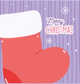 merry christmas celebration decoration red vector image vector image