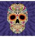 mexican skull original pattern vector image