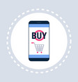 mobile application online shopping icon concept vector image