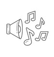music note line icon vector image vector image