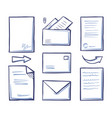 office papers and documentation in envelope vector image vector image
