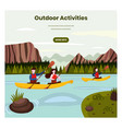 outdoor activities web banner design vector image