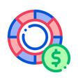 poker betting and gambling icon vector image