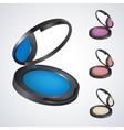Realistic eyeshadowpowderrougeblush vector image