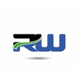 RW company group linked letter logo