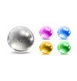 set disco balls disco background vector image vector image