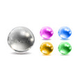 set of disco balls disco background vector image vector image