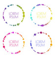 set round bright colorful banners vector image vector image